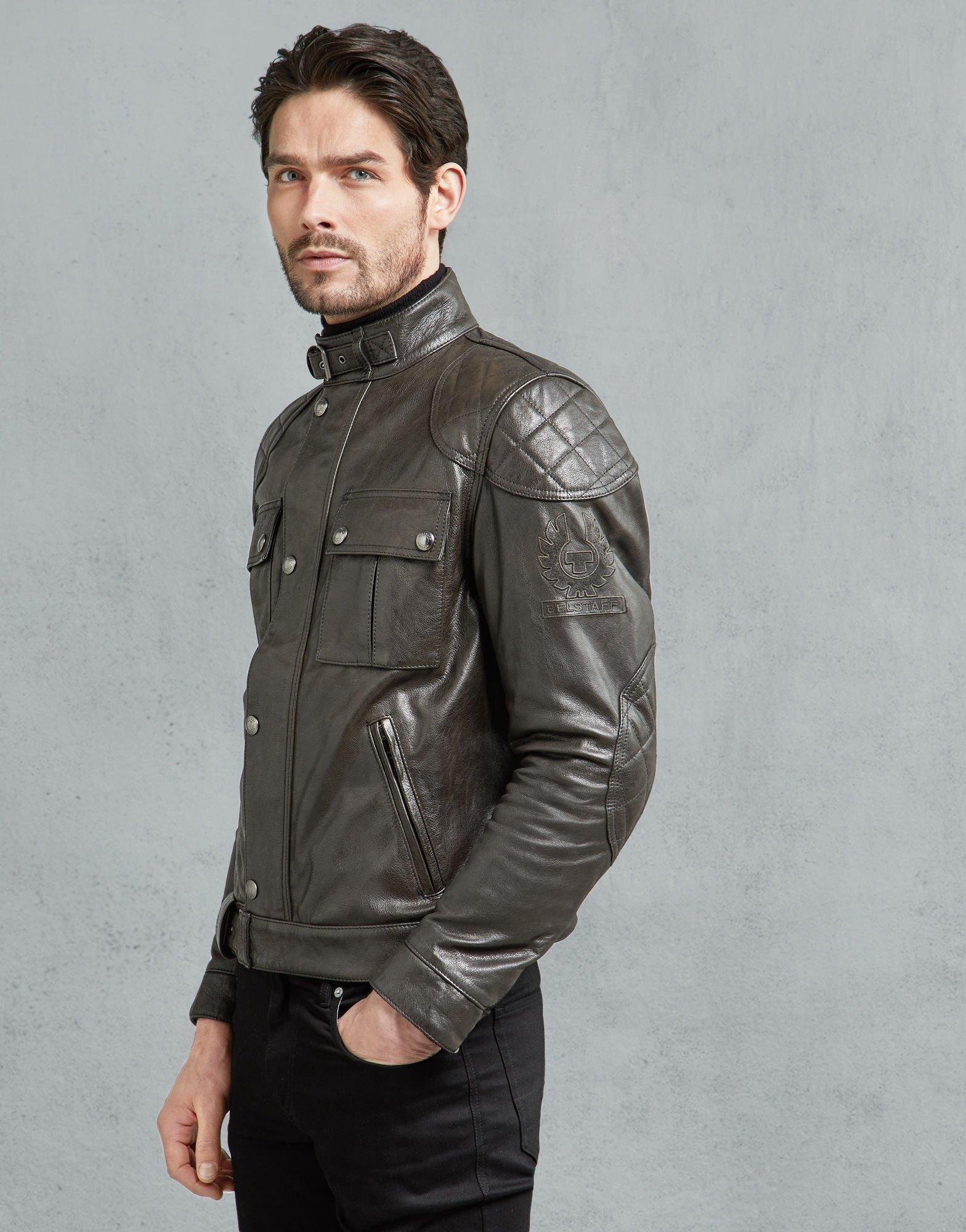 Forzado Inmunizar cicatriz  Belstaff Leather Brooklands Motorcycle Jacket in Antique Black (Black) for  Men - Lyst