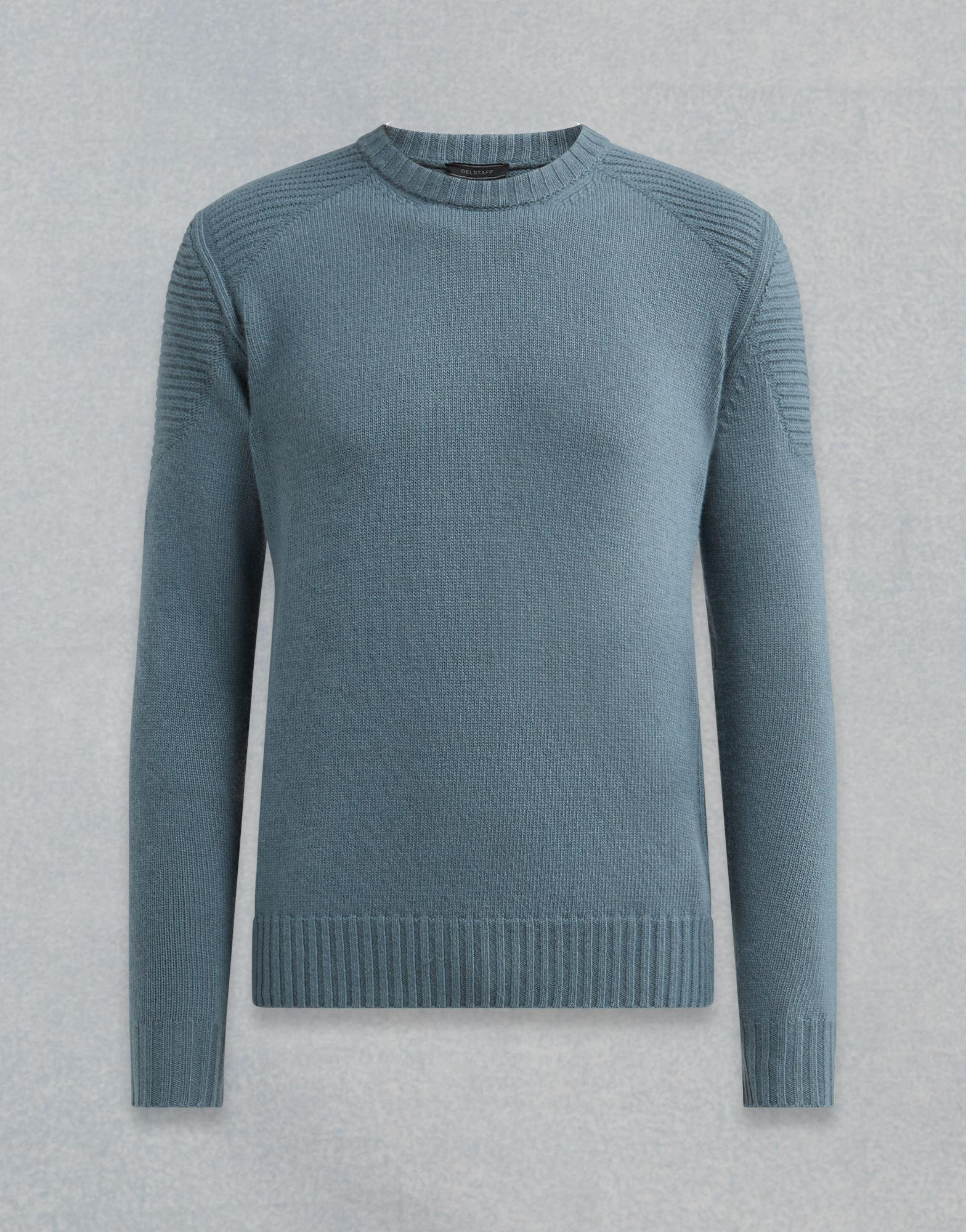 f784e7a15eb9 Lyst - Belstaff Southview Knitted Jumper in Blue for Men