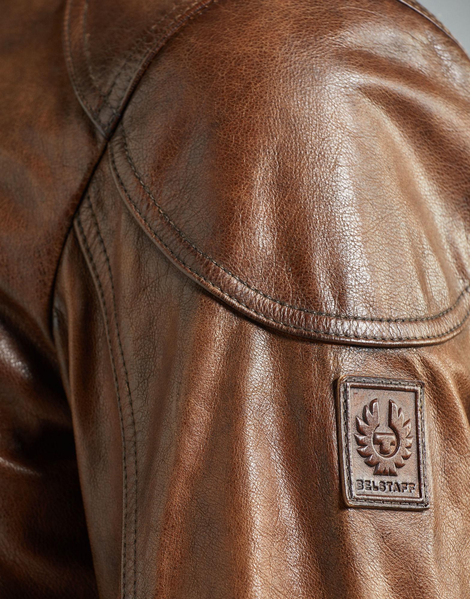 bb7000f5f Belstaff Leather Maxford 2.0 Blouson Jacket in Brown for Men - Lyst