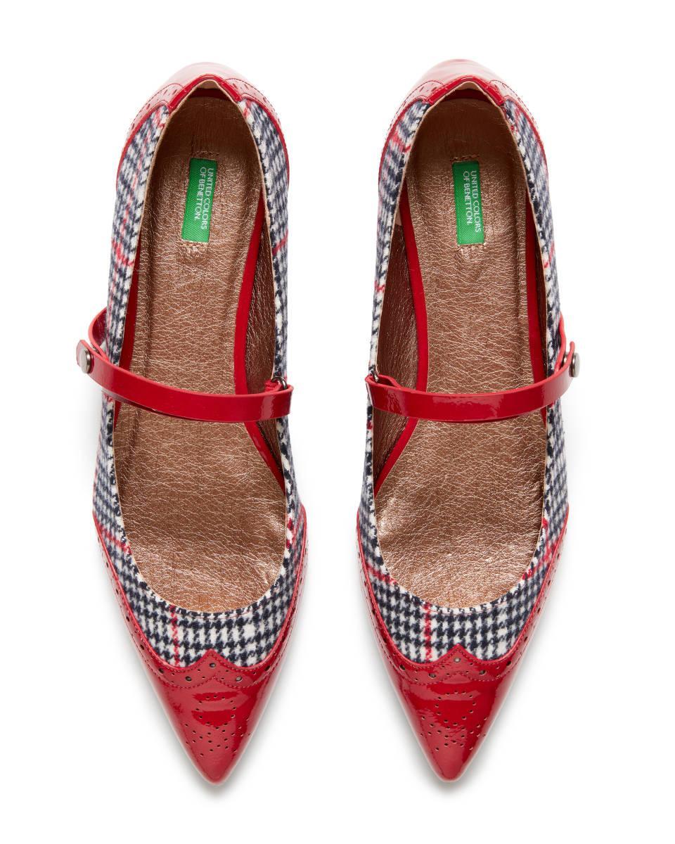 Bailarinas De Pata De Gallo Benetton de color Rojo