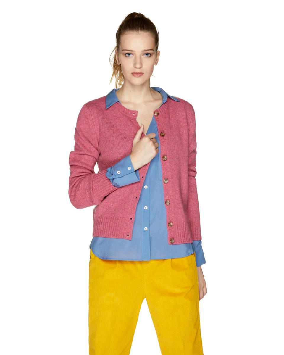 Cárdigan De 100% Lana Virgen Benetton de color Rosa