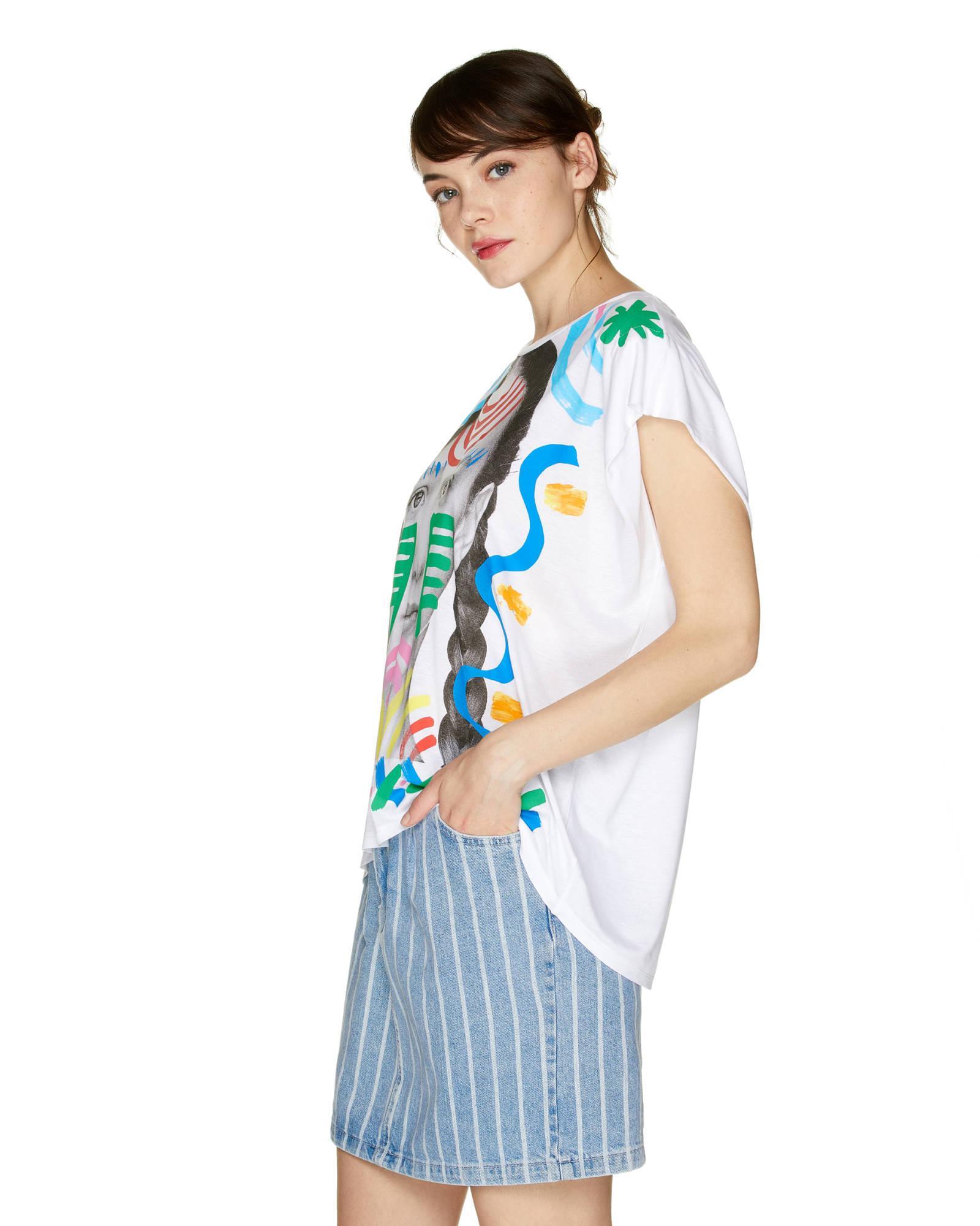 Camiseta Con Estampado Fotográfico Benetton de Tejido sintético de color Azul