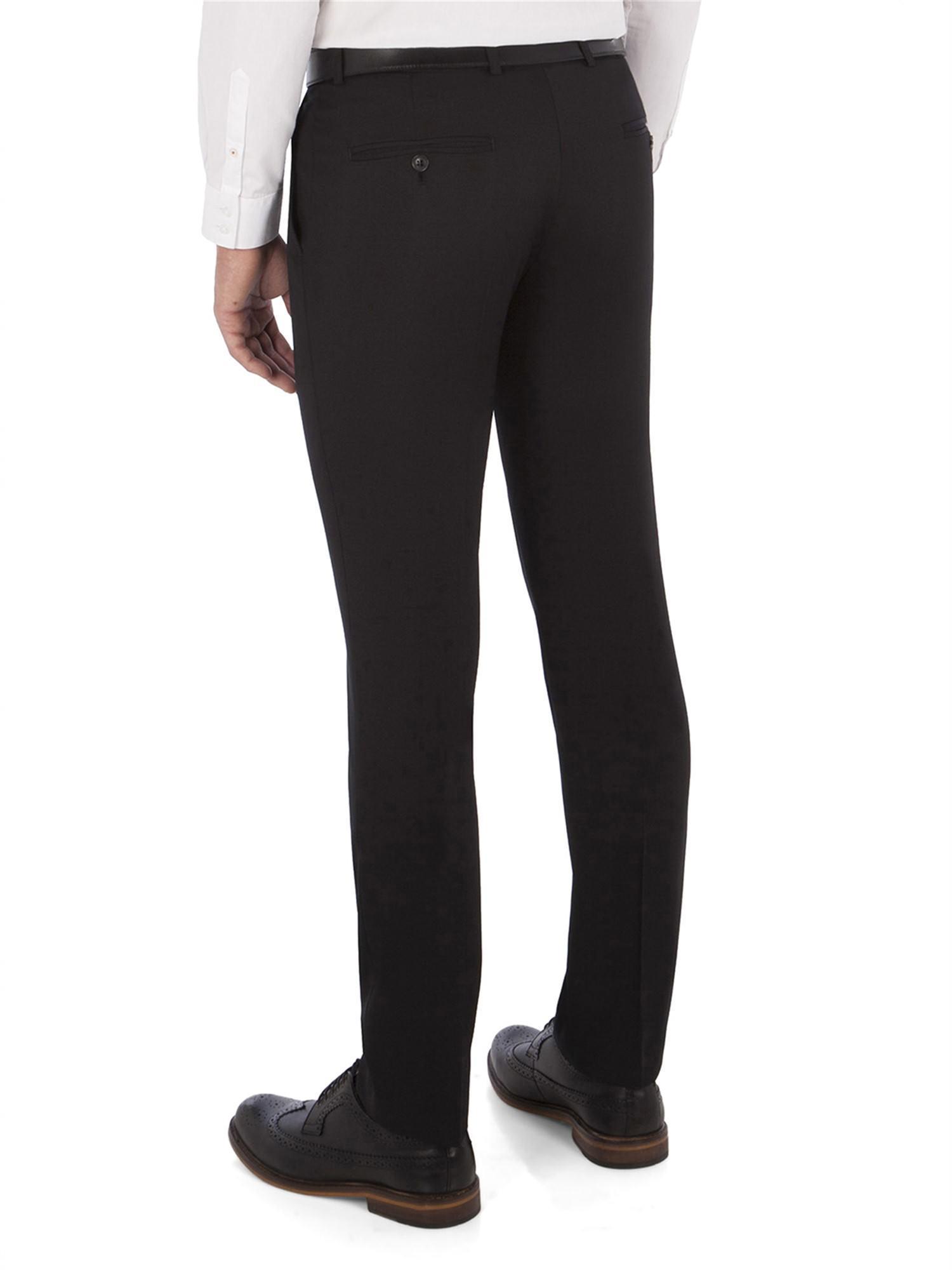 Ben Sherman Wool Black Twill Camden Trouser for Men