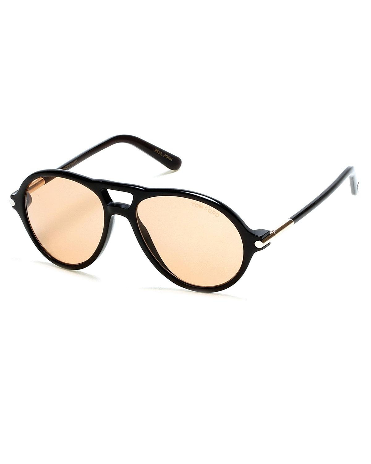 e90974333665 Lyst - Tom Ford Tom N.10 Private Collection Horn Aviator Sunglasses ...