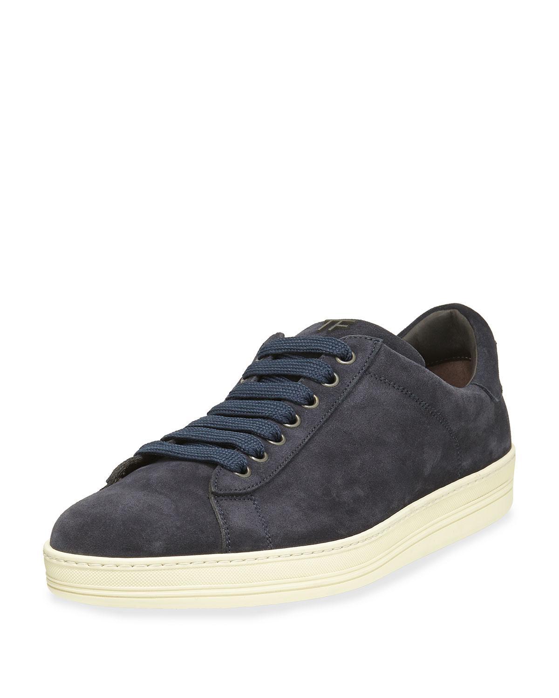 Sneaker suede dark blue Tom Ford zCKePRA