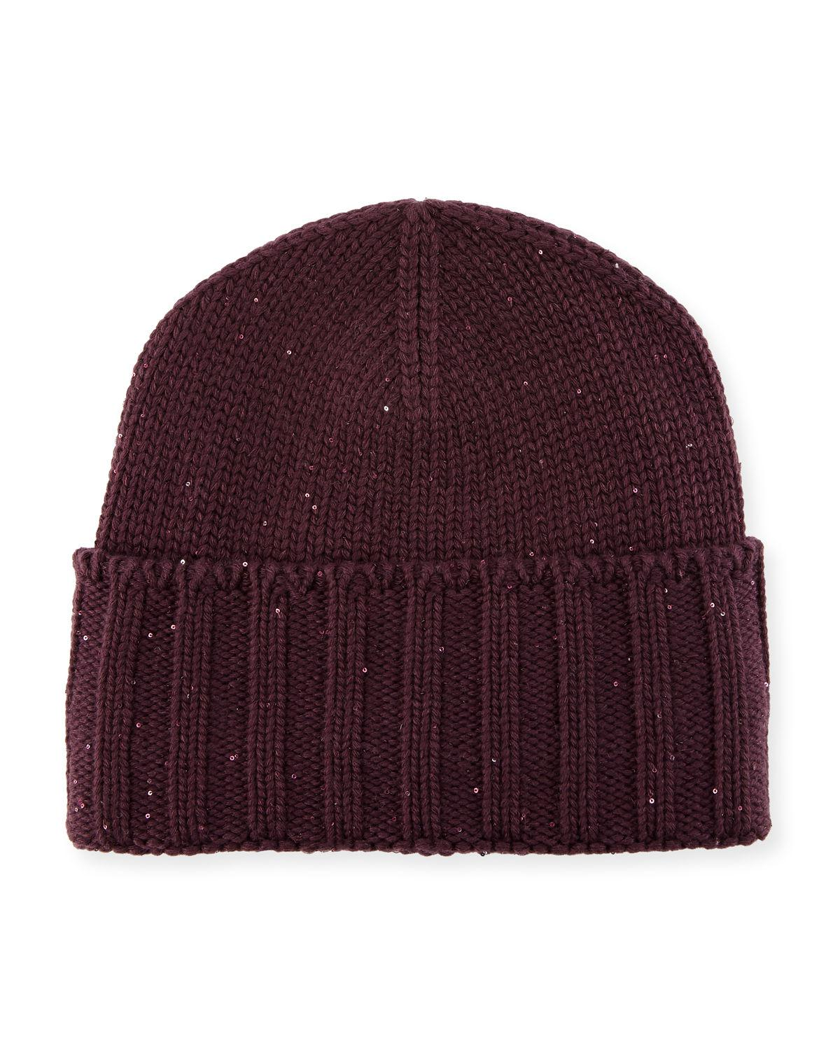 26f811309dc3 Lyst - Loro Piana Midnight Baby Cashmere Berretto Knit Beanie Cap in ...