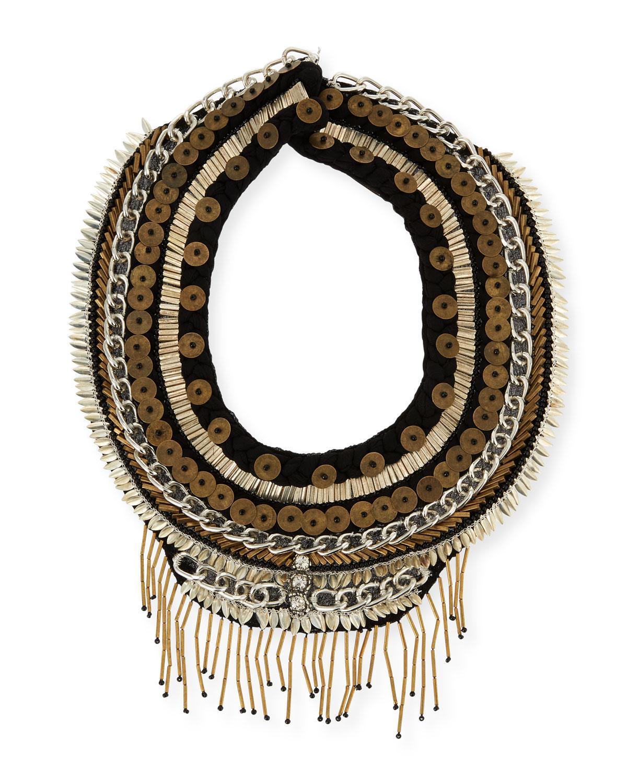 Mignonne Gavigan Petite Layne Beaded Necklace, Black