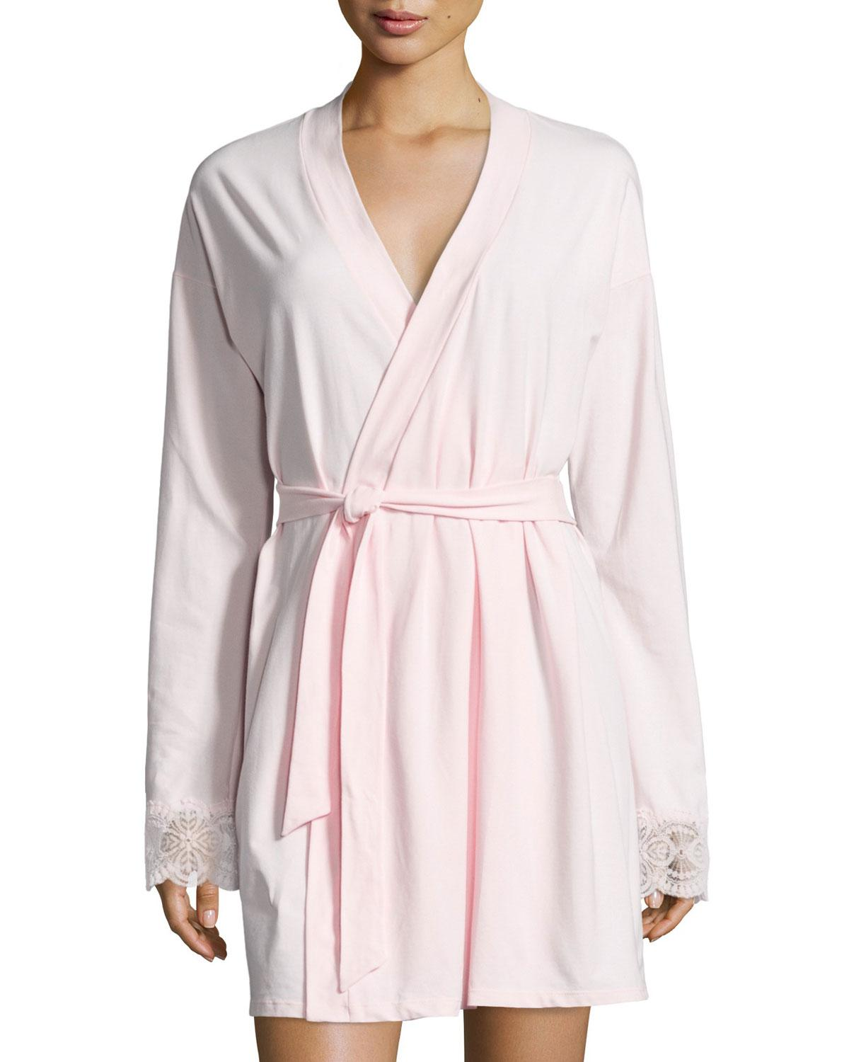 Lyst - Cosabella Sonia Jersey Lounge Robe in Pink b020b2652