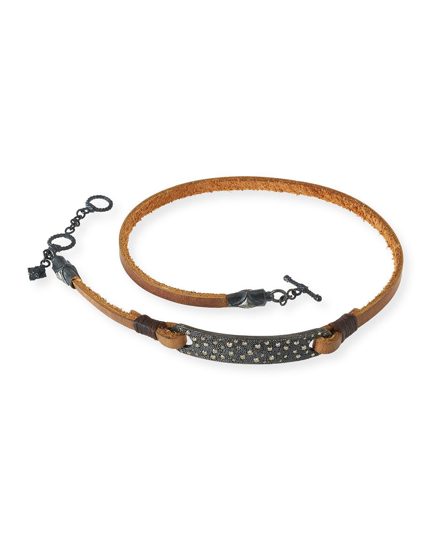 Armenta Old World Midnight Leather Wrap Bracelet 8zm6iUSm
