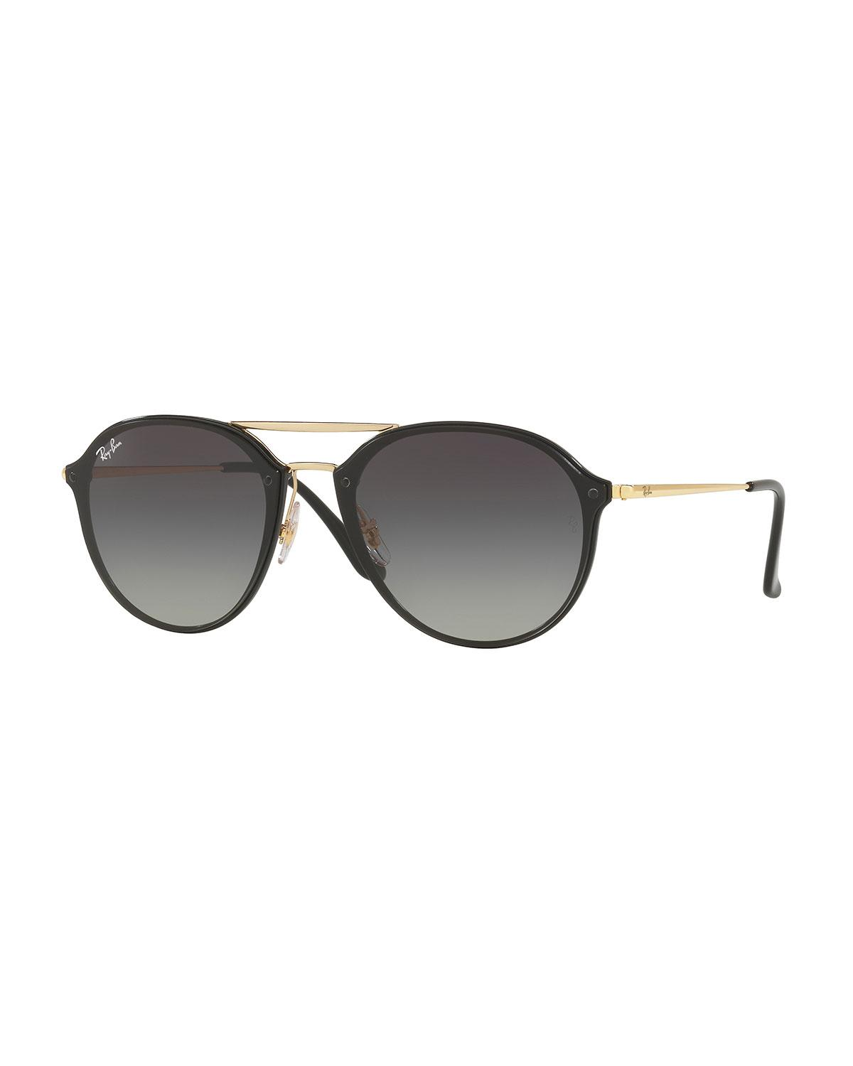 06990841e2 Lyst - Ray-Ban Round Gradient Mirrored Sunglasses in Brown