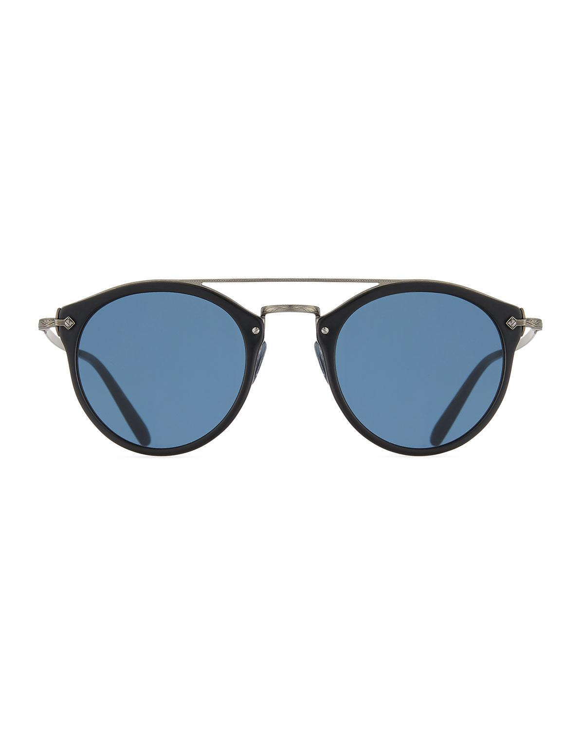29938cb64d Lyst - Oliver Peoples Remick Vintage Brow-bar Sunglasses in Blue for Men