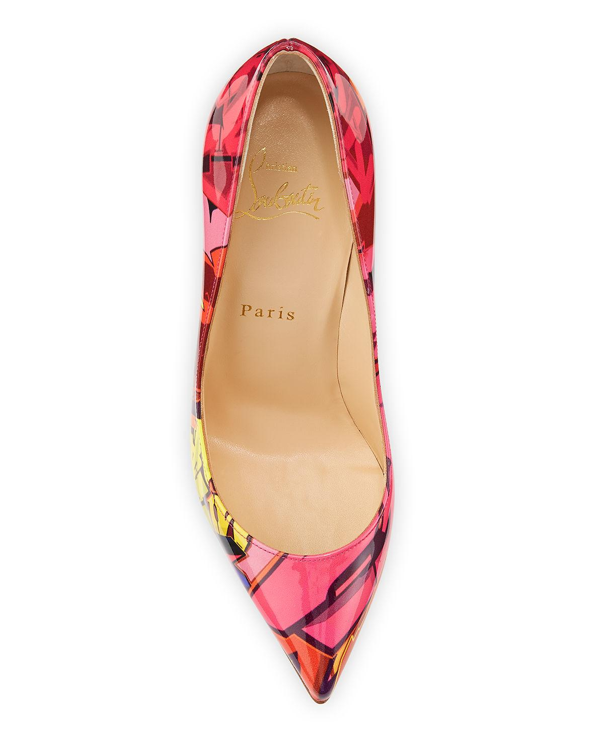 promo code 69d34 e8133 Christian Louboutin Multicolor Pigalle Follies 100mm Patent Metrograf Red  Sole Pumps