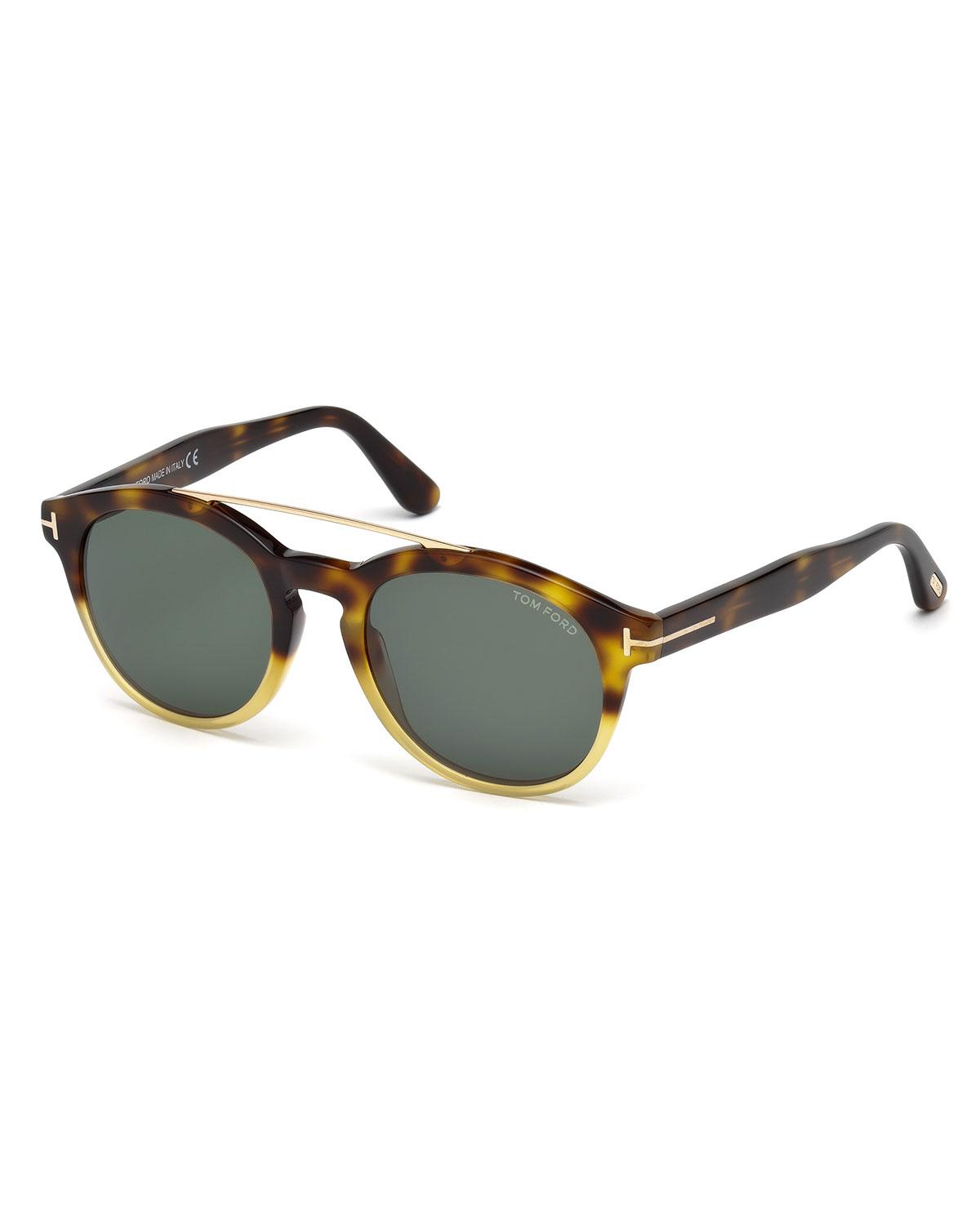 387bb6f700 Lyst - Tom Ford Newman 53mm Round Sunglasses for Men