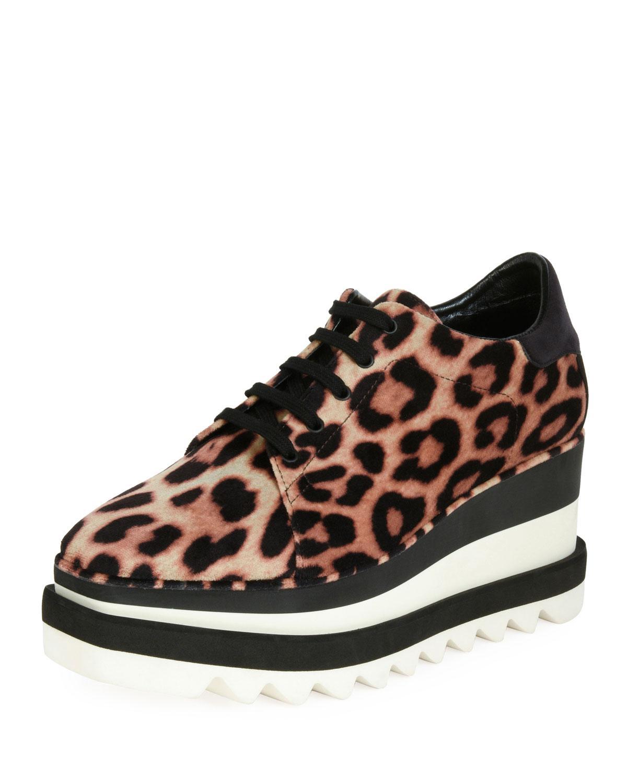 Sneakelyse Leopard Wedge Sneakers