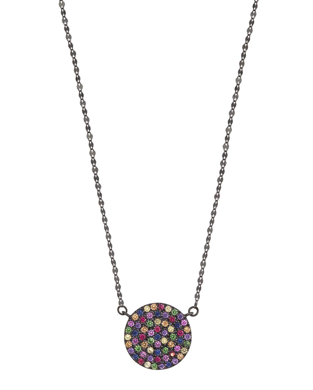 Lana Jewelry 14k Large Pavé Pink Sapphire Heart Pendant Necklace v5I6Z0cI
