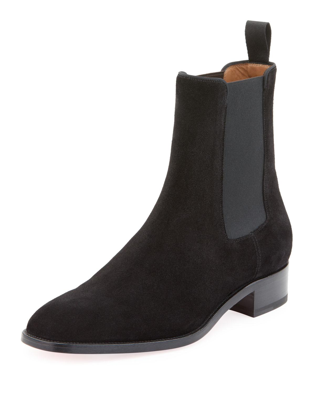 f1d80db7306d Lyst - Christian Louboutin Men s Samson Suede Boot in Black for Men ...