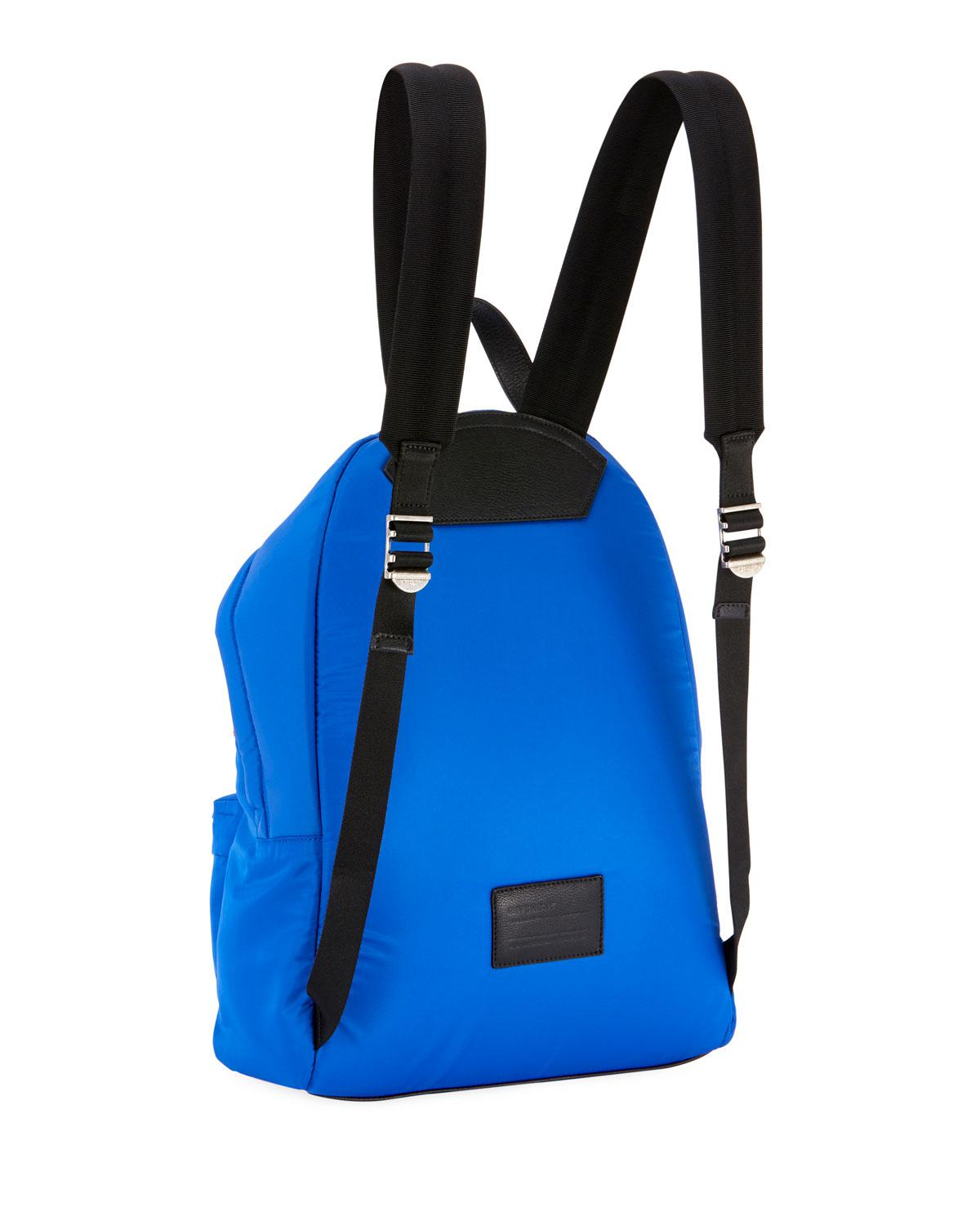 aac38b532d83 Lyst - Givenchy Men s Urban Logo Nylon Zip-around Backpack in Blue for Men
