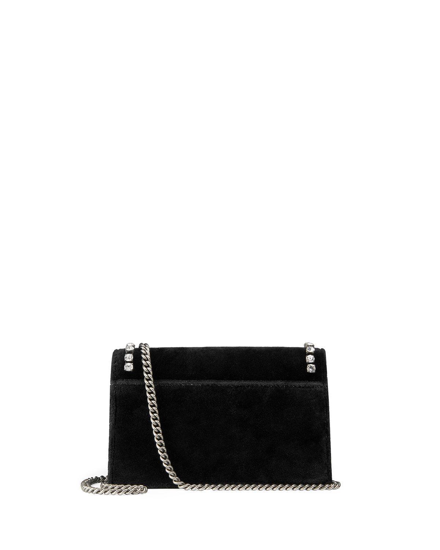 990f1f6f0f92 Lyst - Gucci Dionysus Mini Velvet Wallet On A Chain in Black