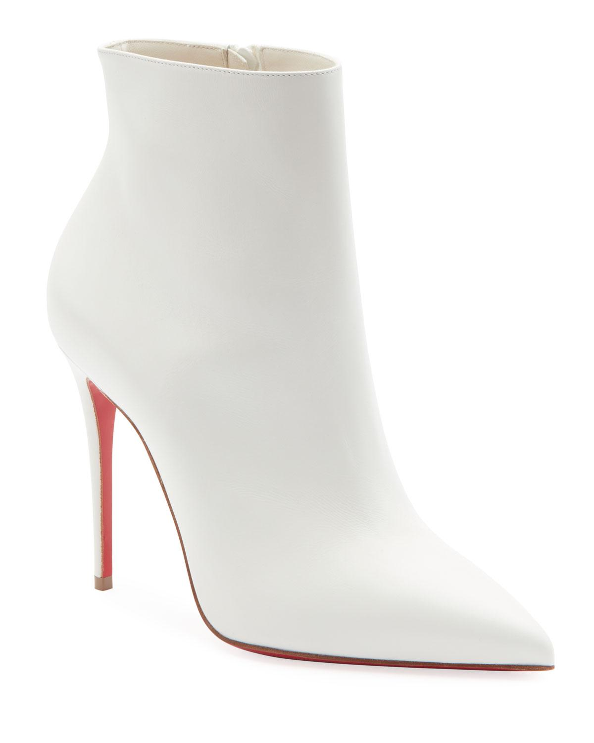 1c3ad03d7989 Lyst - Christian Louboutin So Kate Red Sole Booties in White