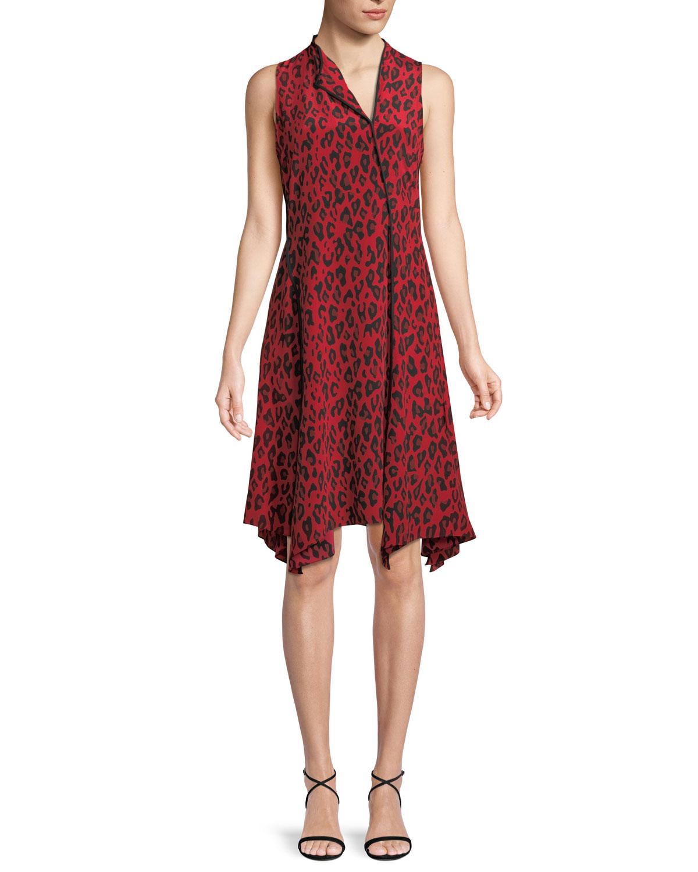 7c2ef3978f7 Lyst - Diane von Furstenberg Sleeveless Bias-cut Floral-print Silk ...