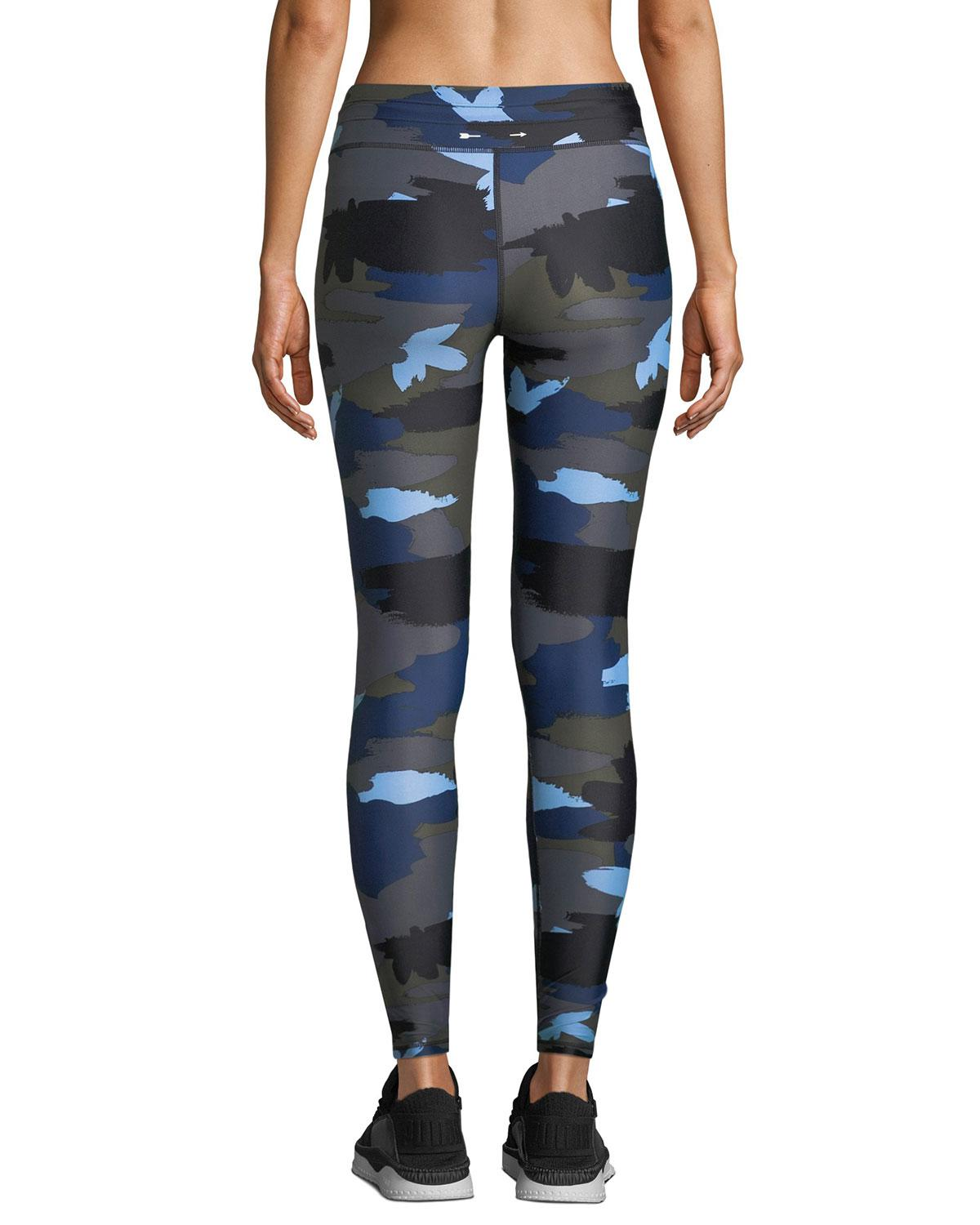 f50dad91f39 Lyst - The Upside Abstract Camo-print Drawstring Yoga Pants in Blue
