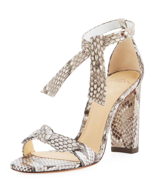 faada42c178f Lyst - Alexandre Birman Clarita Python Block-heel Sandal in Natural