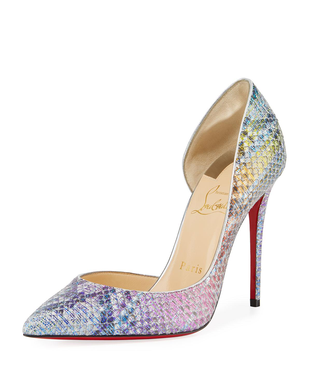 1270da466a89 Christian Louboutin. Women s Natural Iriza Python Unicorn Red Sole Court  Shoes