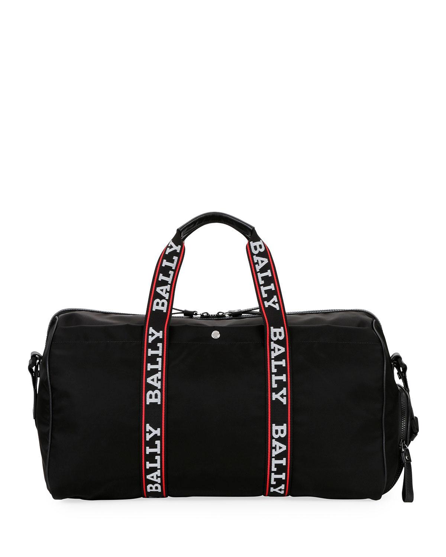 b66a49804a58 Bally - Black Men s Darcy S0 Logo-tape Nylon Duffel Bag for Men - Lyst.  View fullscreen