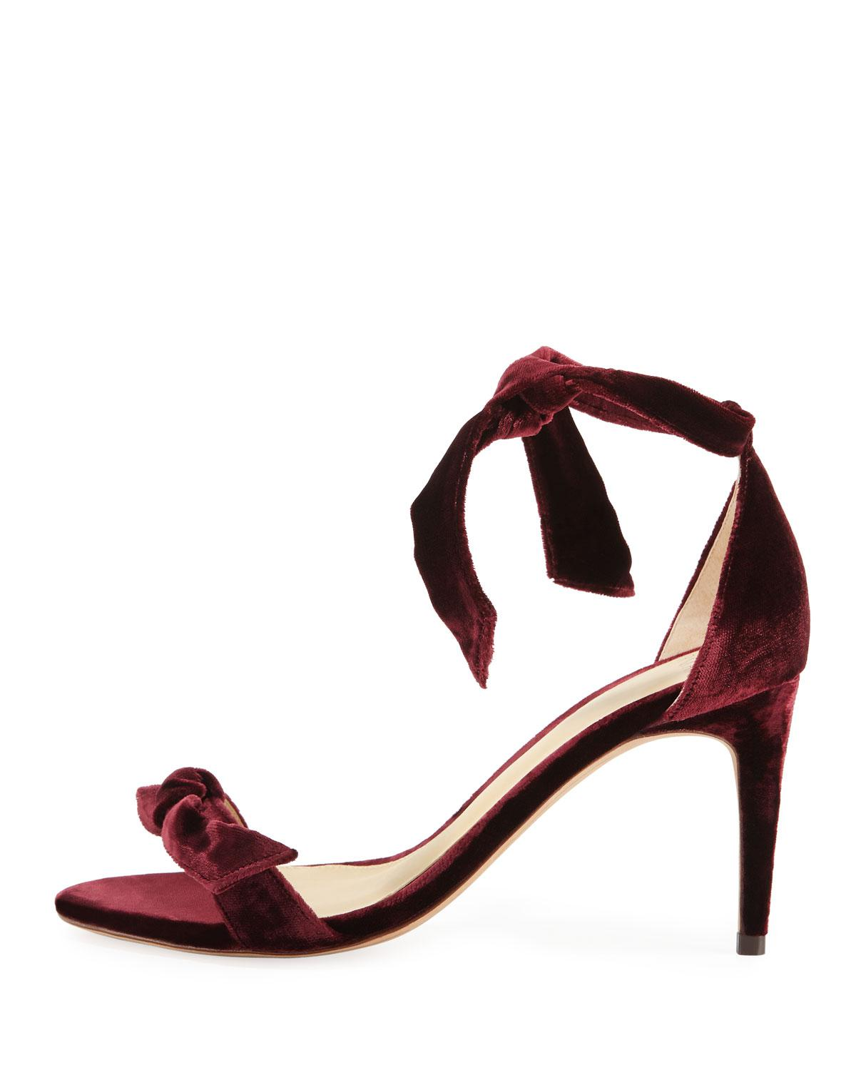 Alexandre Birman Clarita Velvet Sandals w/ Tags free shipping explore cheapest price online H1f53m