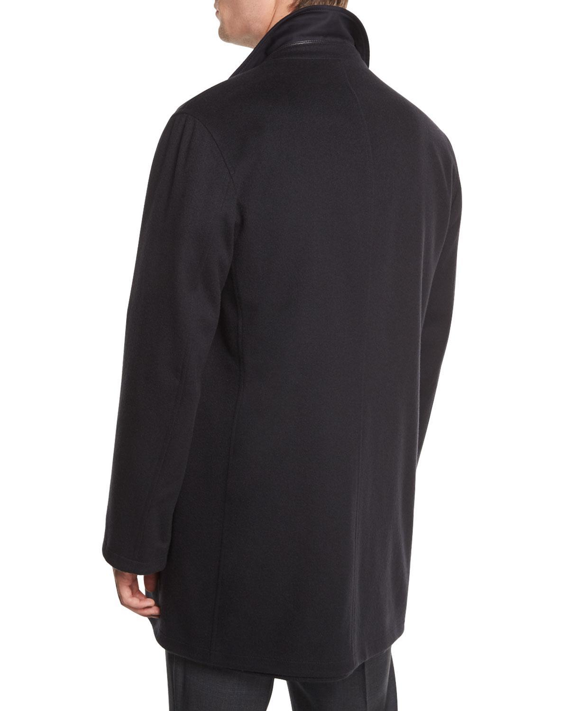 36a447e1 Men's Blue Reversible Wool/cashmere Coat