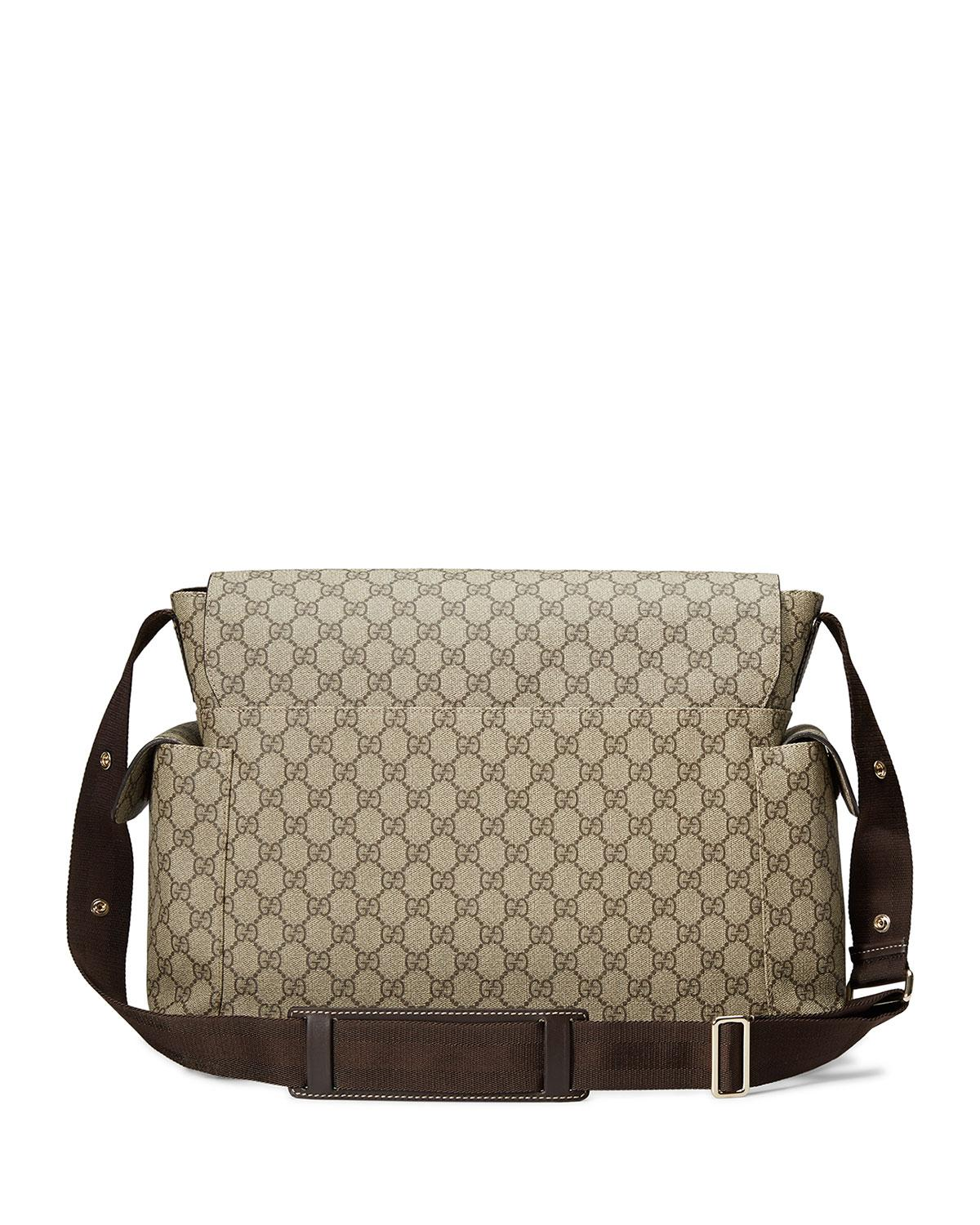 16418244ef6 Lyst - Gucci Ssima Faux-leather Diaper Bag W  Changing Pad in Natural