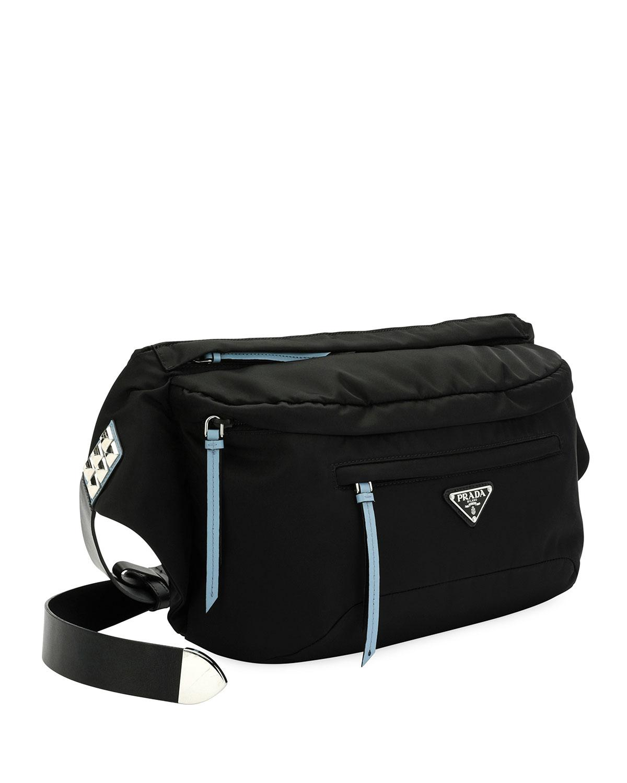 708fde705f1777 Prada - Black Vela Nylon Square Belt Bag - Lyst. View fullscreen