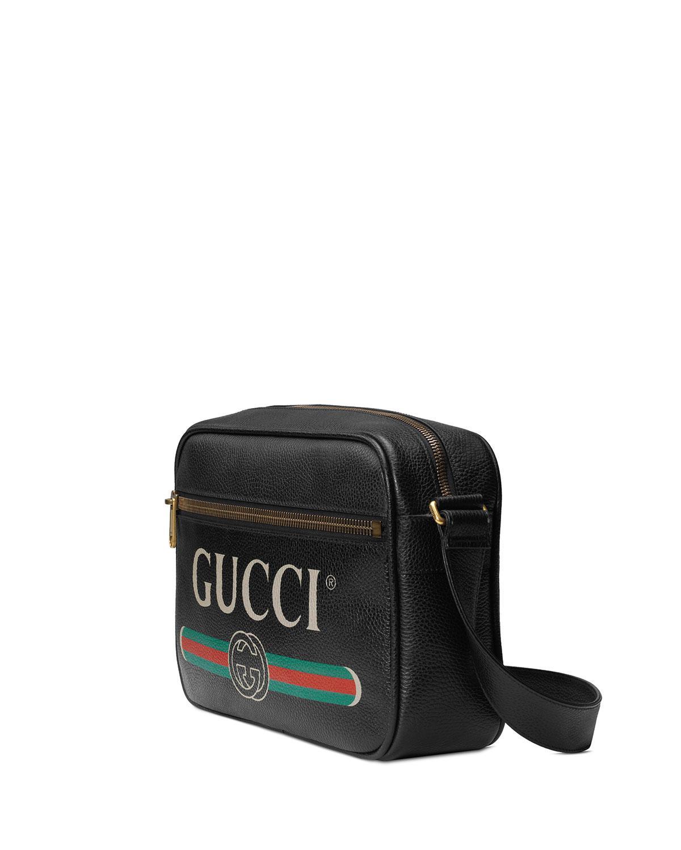 dd6d70c30 Gucci Men's Retro Leather Shoulder Bag in Black for Men - Save 11% - Lyst