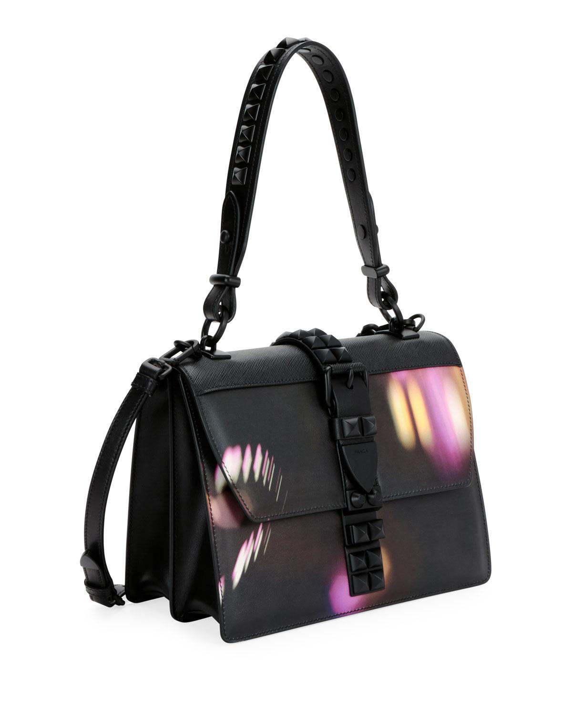 Prada - Black Elektra City Lights Top Handle Bag - Lyst. View fullscreen e3715f203917a