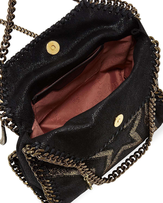 5a41ce3fa77e Lyst - Stella McCartney Shaggy Gradient Star Mini Falabella Tote Bag ...