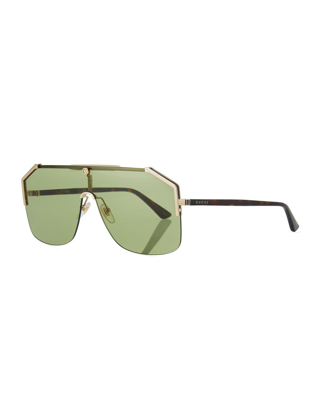8b9f13fad5e Gucci Rimless Shield Sunglasses Mens « One More Soul