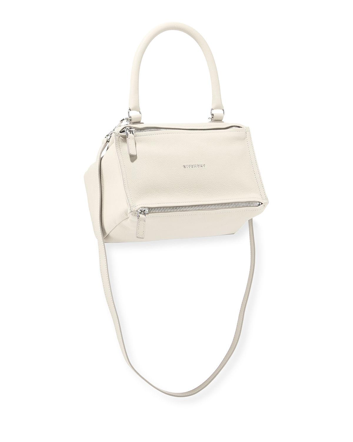 0a151f002880 Lyst - Givenchy Pandora Small Leather Shoulder Bag in White