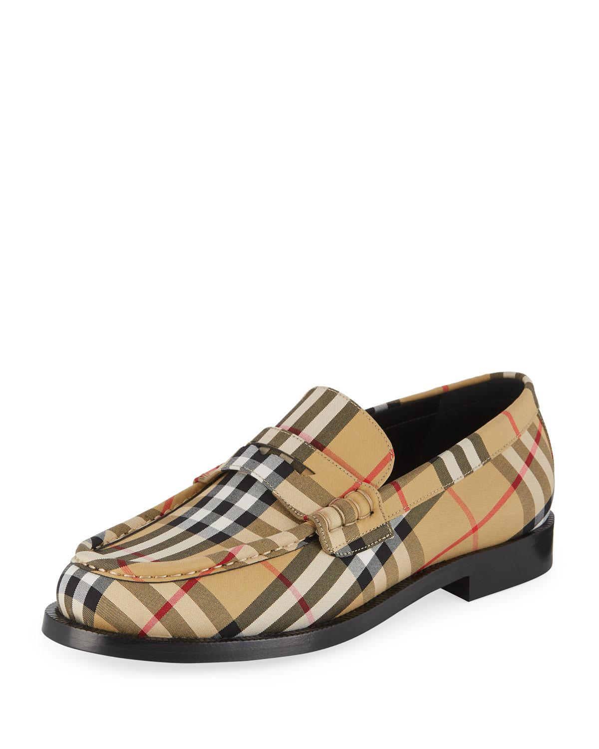 sneakers for cheap for whole family quite nice Men's Moore Signature Check Penny Loafer