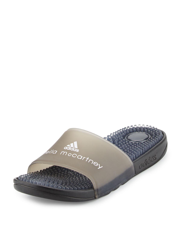 55b3379fff3 Adidas By Stella McCartney - Black Recovery Molded Slide Sandal for Men -  Lyst