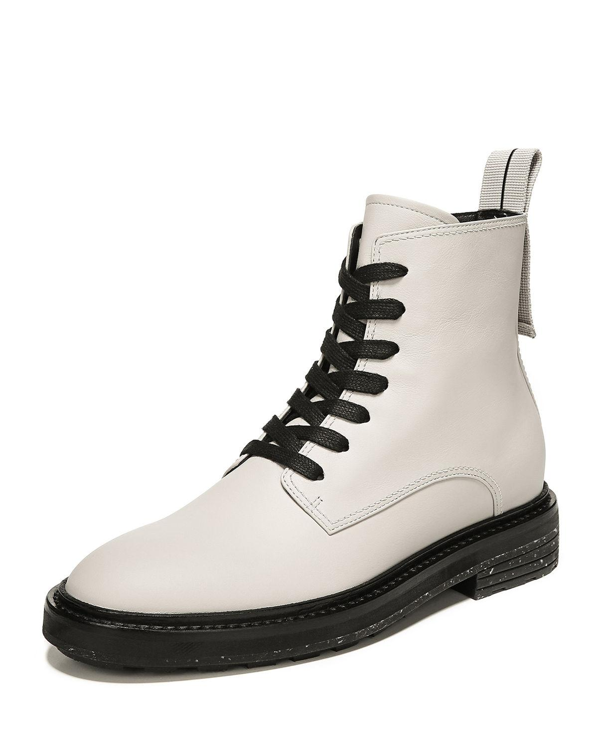 Via Spiga Leather Kinley Lace-up Combat