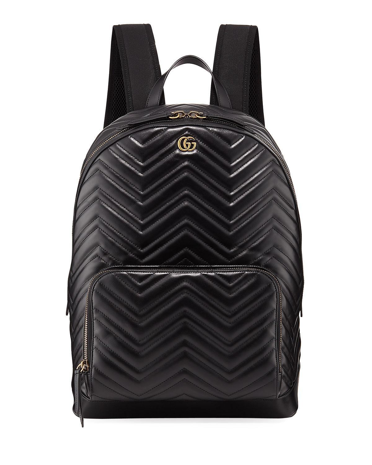 295c655c832 Gucci Men s GG Marmont Quilted Leather Backpack in Black - Lyst