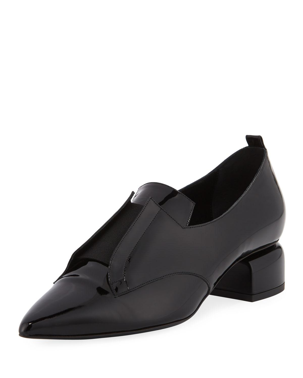 ffa46b2cd57 Lyst - Pierre Hardy Billy Patent Stretch-band Loafer in Black
