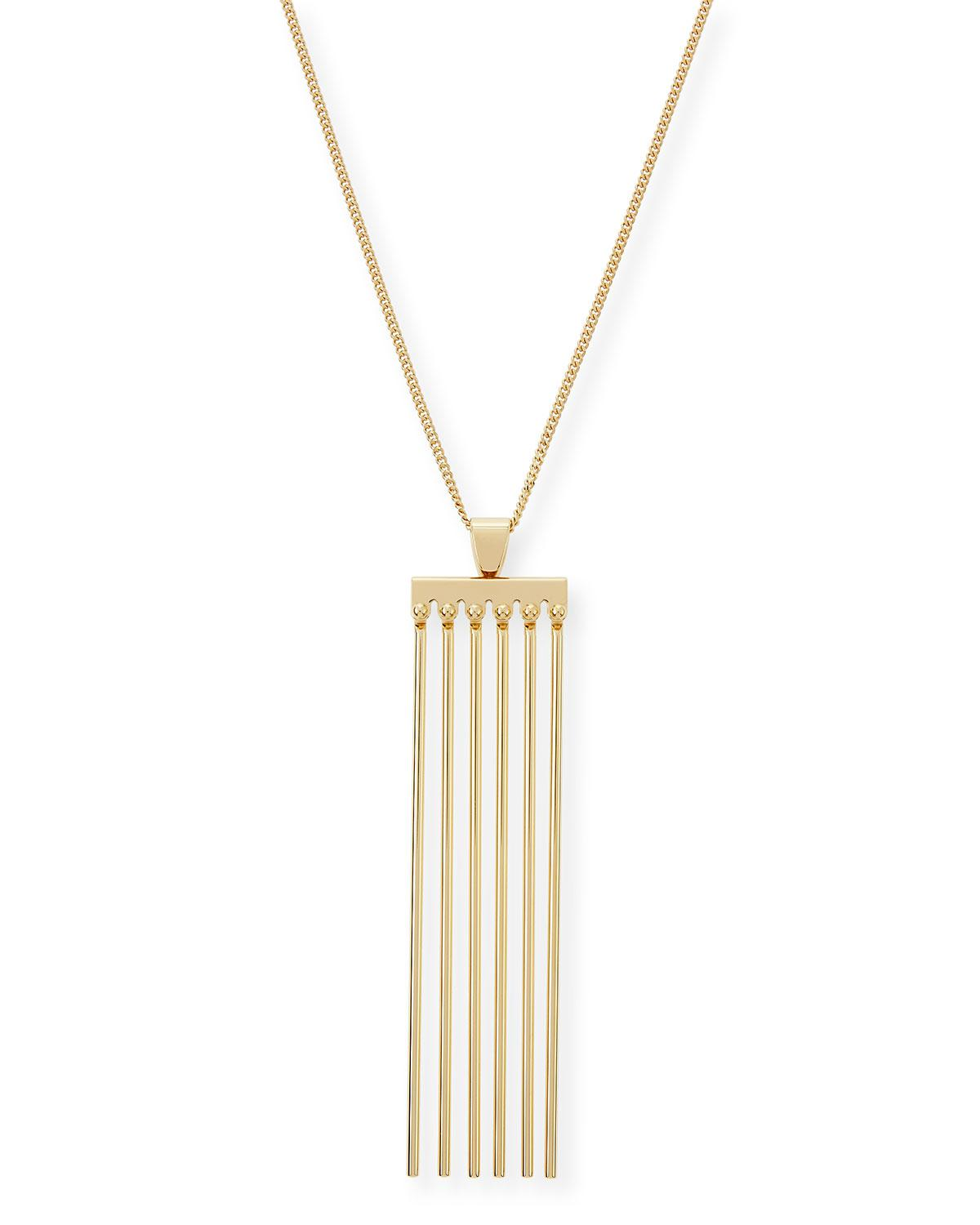 Chloé Keira Long Necklace in Metallics 8tglvnapEM