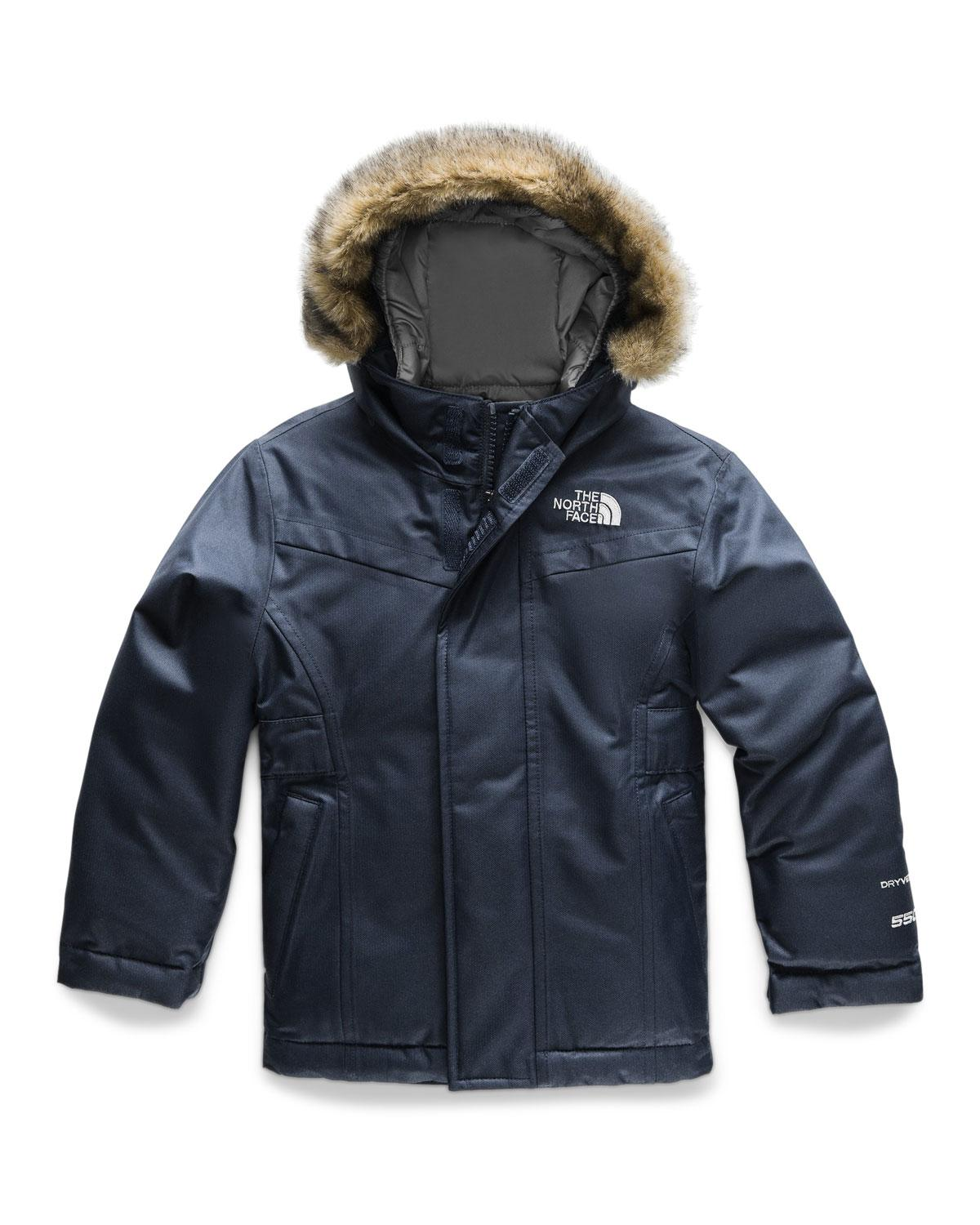 e47c25e749 The North Face. Women s Blue Greenland Down Hooded Jacket W  Faux-fur Trim