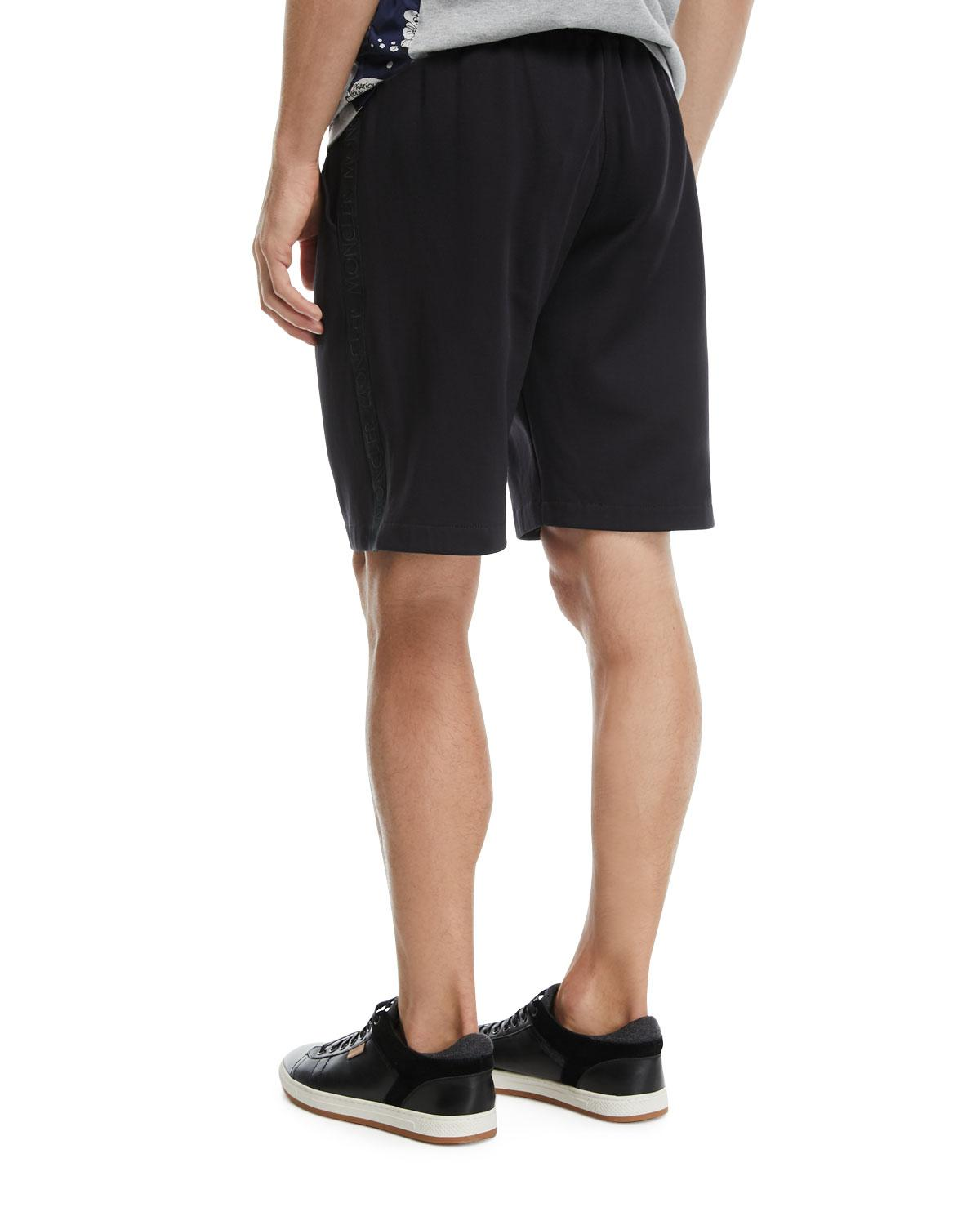 fede1925e30f Lyst - Moncler Nylon Sweat Shorts With Logo Taping in Black for Men