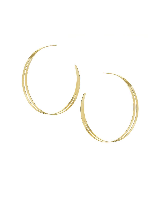 Lana Jewelry Large Double Flat Hoop Earrings jnQ3w
