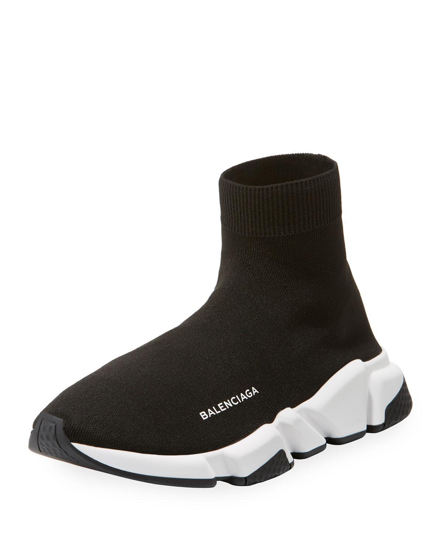 9214228f18a9 Lyst - Balenciaga Men s Allover Logo Speed Lace-up Sneaker. - Black ...