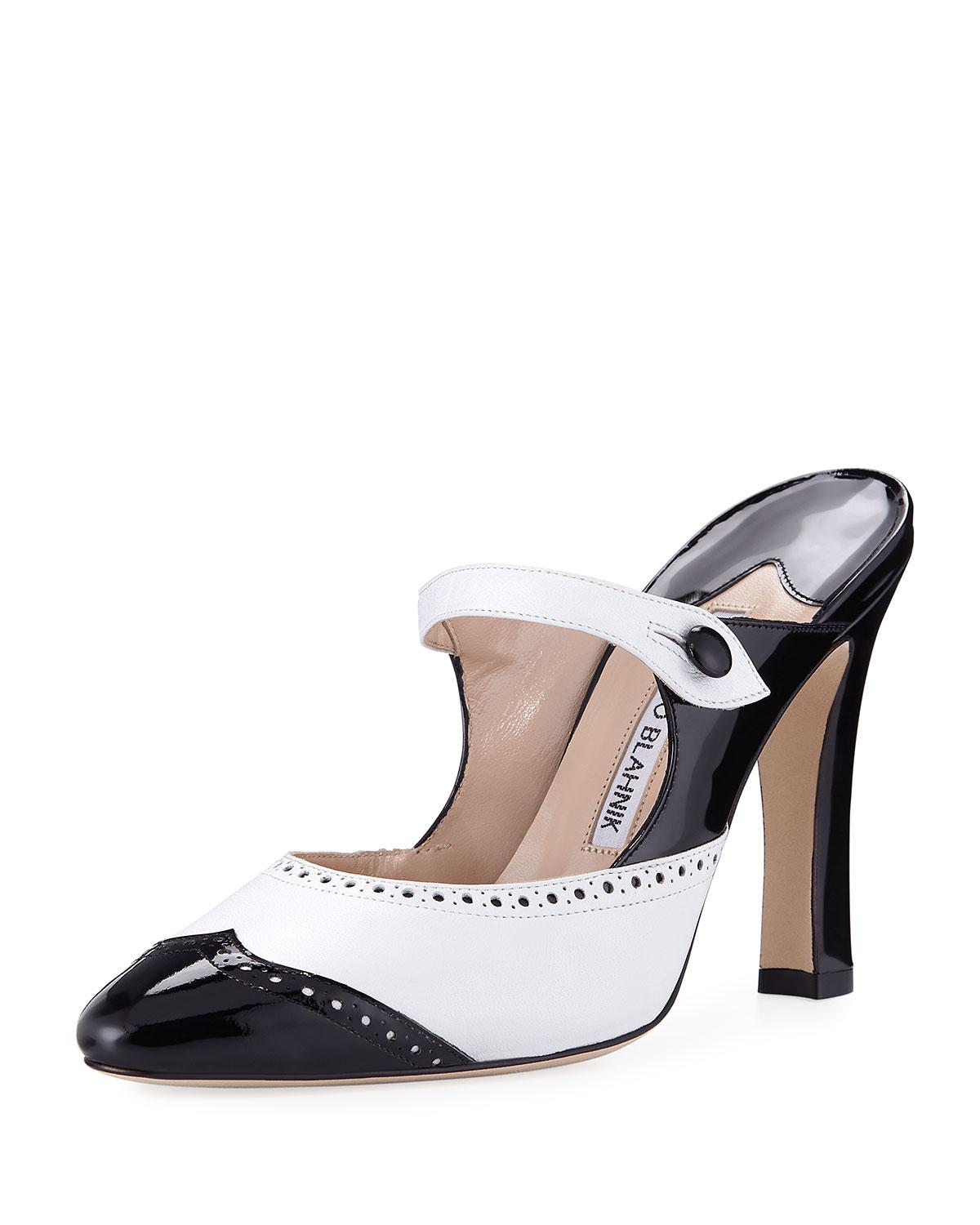 Manolo Blahnik Patent Leather Brogue Pumps buy cheap eastbay best place clearance in China cheap sale big sale cheap sale prices HxFttx