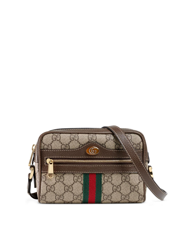 a42d51fb9 Gucci - Natural Ophidia GG Supreme Mini Bag - Lyst. View fullscreen