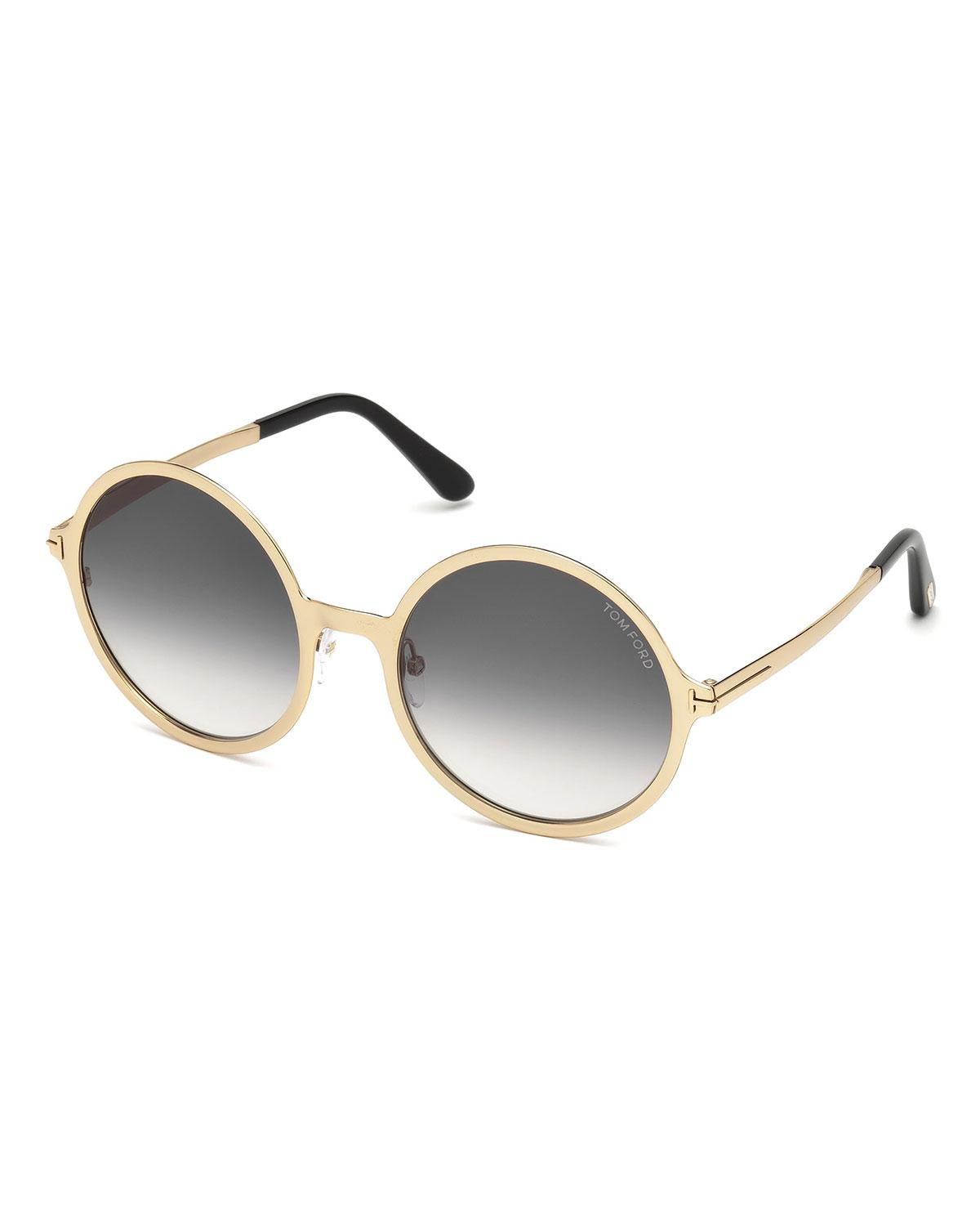 e369fd3b063 Tom Ford - Metallic Round Gradient Metal Sunglasses - Lyst. View fullscreen